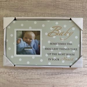 Baby Picture Frame, Gray, 3x3 Photo